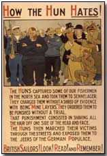 'The Hun', as used in a British propaganda poster