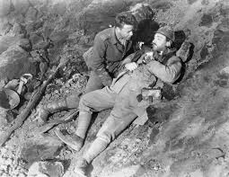 Baumer is in a shellhole, when a French soldier jumps in. Baumer kills him, and experiences intense, but shortlived, guilt