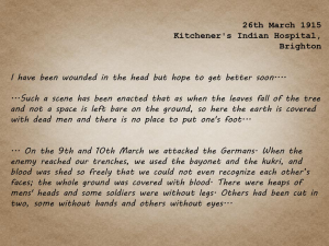 Letter from a wounded survivor from the Meerut Division, recovering at hospital in Brighton, describing the battle (Subterranean Sepoys)