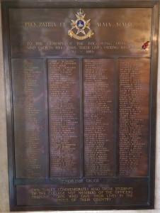 The memorial to the fallen of the OTC, Nottingham