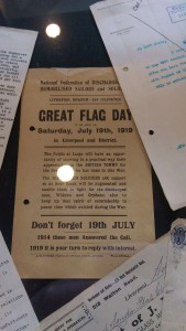 An advertisement for a Great Flag Day, to be held in Liverpool 1919