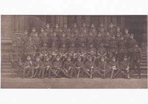 Cadets of the Nottingham contingent Officer Training Corps c1912