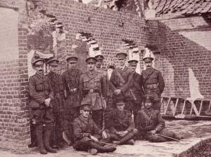 Officers of the Garhwal Rifles, Pont du Hem, France, August 1915 (Picture credit The Ashok Nath Foundation, Sweden)