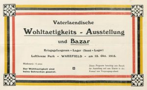 Charity exhibition and bazar held at Lofthouse Park Camp in 1915 (State Library Berlin PPN746445490)