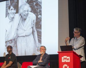 Stephen Bourne (speaking), Professor David Killingray and Patrick Vernon.