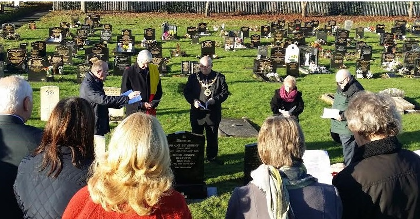 Ceremony at Northwich Town Cemetary.